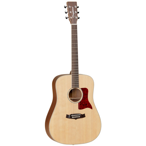"<p>In stock and ready to ship at MorMusic</p><p>Seen it cheaper elsewhere? We'll aim to match or beat any like for like price!</p><p>TanglewoodåÕs Sundance Performance Pro Series is the culmination of decades of guitar building expertise and research. Swedish master luthier Michael Sanden has designed TanglewoodåÕs new flagship models, boasting all solid wood combinations and sumptuous features on some of the most popular and iconic acoustic body shapes in guitar history This new Sundance series - will comprise of six special handcrafted models, in all solid, premium reserve timbers. The range will begin with the heritage inspired Dreadnought X15 &amp; three Superfolk cutaway models in the X45AVE and X45E, and the all solid Mahogany X47E. Every one of these guitars will feature all solid construction and Custom Masterdesign parallel and fan tapered bracing patterns. All electro models will feature Fishman Presys Plus electronic systems.</p> <ul class=""bullets""> <li>A superb acoustic guitar for the professional player</li> <li>Chrome Grover machine heads</li> <li>Designed in collaboration with &ldquo;hall of fame&rdquo; luthier Michael Sanden</li> <li>Fitted with Elixir Nanoweb Phosphor Bronze 12-53 Light E16052 acoustic guitar strings</li> <li>Solid wood body provides excellent tonal qualities</li> </ul> <table> <tbody> <tr><th>SHAPE</th> <td>Dreadnought</td> </tr> <tr><th>TOP</th> <td>Solid spruce</td> </tr> <tr><th>BACK</th> <td>Solid mahogany</td> </tr> <tr><th>SIDES</th> <td>Solid mahogany</td> </tr> <tr><th>NECK</th> <td>Mahogany</td> </tr> <tr><th>FINGERBOARD</th> <td>Sonokelin</td> </tr> <tr><th>BRIDGE</th> <td>Sonokelin</td> </tr> <tr><th>BINDING</th> <td>Maple</td> </tr> <tr><th>SADDLE</th> <td>Bone, compensating (72mm)</td> </tr> <tr><th>NUT</th> <td>Bone (43mm)</td> </tr> <tr><th>SCALE LENGTH</th> <td>650mm</td> </tr> <tr><th>MACHINE HEADS</th> <td>Chrome Grover</td> </tr> <tr><th>FINISH</th> <td>Natural satin</td> </tr> </tbody> </table>"
