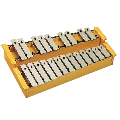 C3 - A4, 22 bars, 2 beaters. 2.5kg <br>Featuring a two-octave range, these wide, easy-to-play resonant bars are made from high quality aluminium and are detachable if required.<br>Seated on attractive natural wooden tone box which offers great resonance.