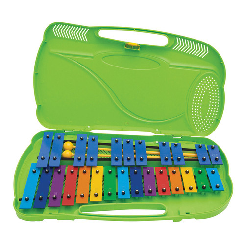 <p>In stock and ready to ship at MorMusic</p><p>Seen it cheaper elsewhere? We'll aim to match or beat any like for like price!</p>G4 - G#6, 26 notes.Supplied with 2 beaters. Bright and colourful, robust, safe and durable! <br>Angel Glockenspiels are ideal for teaching children about basic musical harmony. <br>Dedicated cases for portability and storage with many having adjustable feet, these Glockenspiels are great for primary school use. <br>Each chime is made of gong quality steel and is electronically tuned to 5/100th of a semitone åÐ consistent tuning across the range.