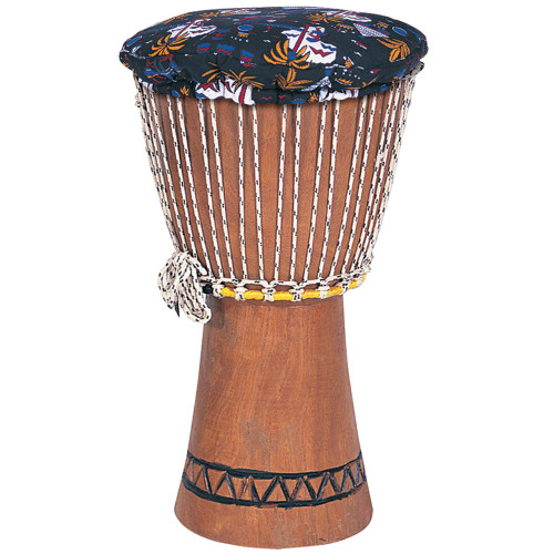 <p>In stock and ready to ship at MorMusic</p><p>Seen it cheaper elsewhere? We'll aim to match or beat any like for like price!</p>The larger dimensions of this Djembe give it increased depth of sound, greater volume and a wider tonal vocabulary. Includes an attractively patterned cover for the goatskin head. 26cm diameter. 45.7cm high.