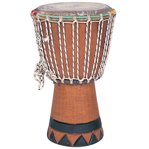 <p>In stock and ready to ship at MorMusic</p><p>Seen it cheaper elsewhere? We'll aim to match or beat any like for like price!</p>Probably the best known of West African rhythm instruments, the Djembe is an extremely versatile and responsive hand drum with a wide range of tones. Ideal for individual or ensemble playing. 22cm diameter. 38cm high.