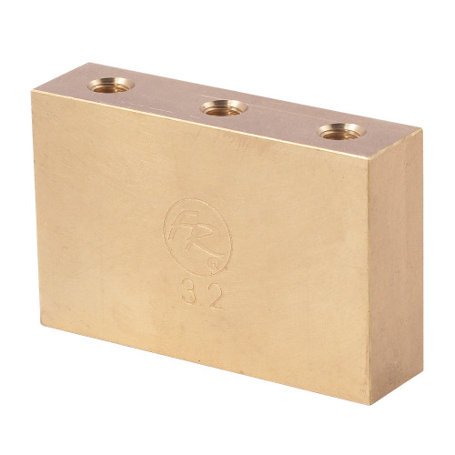 "<p>In stock and ready to ship at MorMusic</p><p>Seen it cheaper elsewhere? We'll aim to match or beat any like for like price!</p><p>This ""Fat"" brass big block will add mass and sustain to your Floyd Rose bridge along with the tonal qualities of brass. Works with Floyd Rose Original, Non-Fine Tuner, 7-String*, 1000 Series*, and Special* tremolo systems. Width is 50.15 mm and thickness is 12.90 mm. Brass has been a much desired material for guitar luthiers dating back to the invention of the instrument; it is notorious for increasing warmth and clarity simultaneously, a rare combination. While greatly strengthening chord clarity and beefing up individual tones, it also greatly improves resonance, especially in the midrange of the instrument. All of these improvements are accompanied with the undeniably vintage sound and feel of this time-tested material. Since this block is larger than a conventional sustain block, it can also limit upward travel of the tremolo and can be set to rest against the body in a blocked bridge configuration. For floating bridge setup this block may require some routing in the spring cavity. *The Special 7-String Tremolo Systems have a sustain block mounting hole spacing which is unlike any of our other systems - for this reason, they can only function with their factory installed sustain blocks. These blocks will NOT function on the 1000 Series Pro 7-String!</p>"