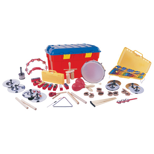 <p>In stock and ready to ship at MorMusic</p><p>Seen it cheaper elsewhere? We'll aim to match or beat any like for like price!</p>Utilising rudimentary rhythm skills gained from the PP World KS1 set, the KS2 can further assist participating children in reaching Key Stage 2 of Music in the National Curriculum. With KS2åÕs more defined instrument inventory, children can quickly gain more musical experience as they develop greater confidence and ability in how to perform music individually and in groups. Consists of 2 Pairs of 15cm cymbals 2 Pairs of 20cm cymbals 2 Pairs of claves 2 Finger castanets 1 pair of  Maracas 1 20cm triangles 1 Piccolo cabasa 1 Agogo & beater 1 Solo tambourine 1 8 note chime bar set 3 Pairs of extra chime bar beaters 1 Tulip block & beater 1 Jingle stick 1 10cm tambour drum 1 25 note glockenspiel 1 Plastic storage chest