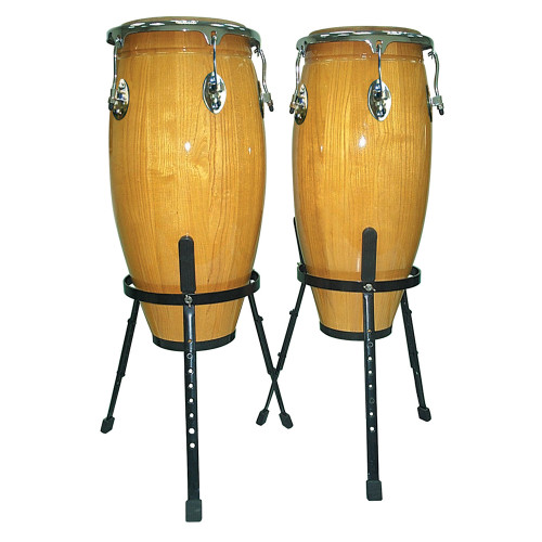 """<p>In stock and ready to ship at MorMusic</p><p>Seen it cheaper elsewhere? We'll aim to match or beat any like for like price!</p>Natural finish full size traditional hand selected maple congas, 10""""/25.5"""" & 11""""/28cm."""
