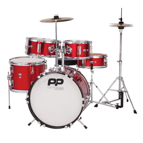 <p>In stock and ready to ship at MorMusic</p><p>Seen it cheaper elsewhere? We'll aim to match or beat any like for like price!</p>With its traditional 5-piece kit layout, the PP Drums PP200RD is a great way for kids to get to grips with drumming techniques. Proper rhythmic co-ordination and timing can quickly be developed åÐ and itåÕs great fun to play, too!