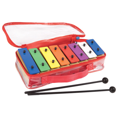 <p>In stock and ready to ship at MorMusic</p><p>Seen it cheaper elsewhere? We'll aim to match or beat any like for like price!</p>8 notes, brightly coloured metal keys, diatonic scale, in the key of C. Individual plastic chambers, Beaters and carry bag included. PP has released four affordable new glockenspiels that are ideal for beginners and advancing students alike. Bright, colourful and durable, and with consistent tuning across the range, the four glockenspiels are perfect for introducing youngsters to the idea of musical harmony. All are housed within a robust, practical carrying case with handle for easy transportation, and feature quality metal keys and a pair of beaters so players can get started immediately. The PP25WK and PP25CK both feature 25 keys (with a G5-G7 note range), and the PP27WK and PP27CK feature 27 (with a G5-A7 note range). The PP25CK and the PP27CK also feature attractive coloured keys.