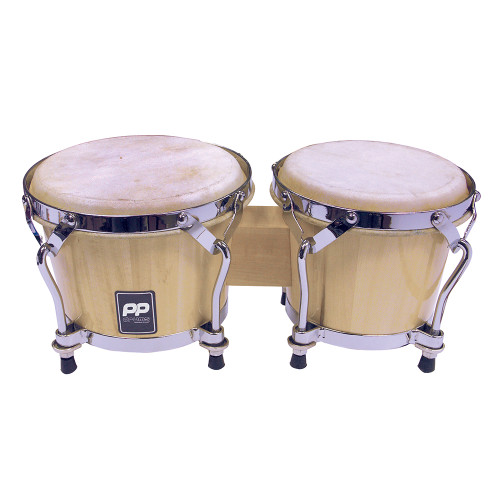 """<p>In stock and ready to ship at MorMusic</p><p>Seen it cheaper elsewhere? We'll aim to match or beat any like for like price!</p>Tuneable coloured wood bongos, 7.5""""""""/19cm + 6.5""""""""/16.5cm heads.Chrome hardware. Lacquer finish, 4 head rim tensioners with key supplied. Rubber feet."""
