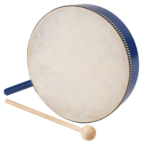 <p>In stock and ready to ship at MorMusic</p><p>Seen it cheaper elsewhere? We'll aim to match or beat any like for like price!</p>Blue wooden hoop with handle, natural head and beater. 20cm Diameter.