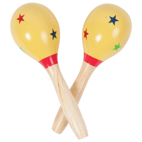 """<p>In stock and ready to ship at MorMusic</p><p>Seen it cheaper elsewhere? We'll aim to match or beat any like for like price!</p>Pair, wooden stars.<br><br>Overall length 5.5""""/14cm."""