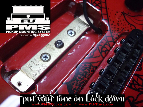 """<p>In stock and ready to ship at MorMusic</p><p>Seen it cheaper elsewhere? We'll aim to match or beat any like for like price!</p><p><span>*</span><span>NEW</span><span>* FU-Tone and Mike Learn are pleased to bring you the new PMS (Pickup Mounting System)! The PMS mounts directly into your pickup cavity giving your pick up a direct mounting platform of our famous FU Bell Brass. The increased resonance form the body to the brass to your pickup will add more warmth and sustain.</span><br /><br /><span>Guitar pickups do not just """"listen"""" to the strings in motion above, they feed off the vibrations happening all around them. Poorly mounted pickups can actually cancel some frequencies. Mount pickups directly into the wood of the guitar, and you get improved tonal response. Add a piece of tone resonate material like the new PMS by FU and the results are even more intense.</span><br /><br /><span>The PMS solution is designed to elicit the maximum performance from your pickup. When properly installed, this patented system amplifies the wood&rsquo;s natural resonant frequencies, energizes the tone of your guitar and optimizes the sonic range of your pickup.</span><br /><br /><span>NOTE: The PMS kit supplies several different screw lengths to allow for</span><br /><span>mounting to any guitar set up.</span></p> <p><a href=""""http://www.fu-tone.com/catalog/images/PMS_Promo_03-800.jpg""""><img src=""""http://www.fu-tone.com/catalog/images/PMS_Promo_03-440.jpg"""" alt="""""""" /></a></p> <p><a href=""""http://www.fu-tone.com/catalog/images/PMS_Promo_02-800.jpg""""><img src=""""http://www.fu-tone.com/catalog/images/PMS_Promo_02-440.jpg"""" alt="""""""" /></a></p> <p><iframe src=""""https://www.youtube.com/embed/TwCeMbB6LYY?rel=0"""" width=""""440"""" height=""""248"""" frameborder=""""0""""></iframe></p>"""