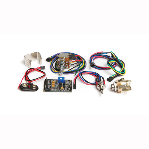 """<p>The&nbsp;<strong>PK-0240-00</strong>&nbsp;is the advanced Ghost Acousti-Phonic preamp kit for guitar.&nbsp; It includes all the basic components you need (except pickups) to add realistic acoustic tone to your electric guitar and adds in the QuickSwitch and Mid/Dark Volume pot.</p> <p><img title=""""GhostLogoSmall"""" src=""""http://www.graphtech.com/images/home-banners/ghostlogosmall.jpg?sfvrsn=0.6675390962600941"""" alt="""""""" /></p> <p>The&nbsp;<strong>PK-0240-00</strong>&nbsp;is the advanced Ghost Acousti-Phonic preamp kit for guitar.&nbsp; It includes all the basic components you need (except pickups) to add realistic acoustic tone to your electric guitar and adds in the QuickSwitch and Mid/Dark Volume pot.</p> <p><span>The&nbsp;</span><strong>Acousti-Phonic Kit for Guitar</strong><span>&nbsp;includes:</span></p> <div><span>PD-0240-00 Acousti-Phonic Intelligent preamp EQ'd for guitar</span></div> <div><span>PD-0103-01 Switchcraft Stereo Switched Output Jack</span></div> <div><span>PE-5003-00 Stereo Output Jack Cable Assembly</span></div> <div><span>PE-5002-00 Acoustic Volume Cable Assembly</span></div> <div><span>PE-0204-00 Battery Connecter (connects 9v to preamp)</span></div> <div><span>PE-0205-00 Battery Holder (metal clip that holds 9V battery)</span></div> <div><span>PE-0111-00 QuickSwitch for mag/both/acoustic</span></div> <div><span>PE-0206-00 Acoustic Volume Pot with Mid/Dark Switch&nbsp;</span></div> <div><span>PE-5017-00 Summing Board&nbsp;(not pictured)<br /></span></div> <div><span>PE-5021-00 Dual Connector Cable&nbsp;(not pictured)</span></div>"""