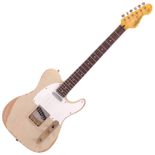 """<p>In stock and ready to ship at MorMusic</p><p>Seen it cheaper elsewhere? We'll aim to match or beat any like for like price!</p><p>The Vintage V62 Icon Series electric guitar has an alder body for a strong, clear sound with excellent lows, finished in Ash Blonde with the classic Icon distressing to give it the feel of a much-used vintage instrument. The genuine Wilkinson single coil pickups add to the great sound.&nbsp;</p> <p><span><br /><span>Body: Alder</span><br /><span>Neck: Hard maple &ndash; bolt-on</span><br /><span>Scale: 25.5""""/ 648mm</span><br /><span>Frets: 22 Medium</span><br /><span>Neck Inlays: Pearloid Dot&nbsp;</span><br /><span>Tuners: Wilkinson&reg; Deluxe WJ55S</span><br /><span>Bridge: Wilkinson&reg; WTB intonatable</span><br /><span>Pickups: Wilkinson&reg; single coil x 2 (N) MWTN (B) MWTB</span><br /><span>Scratchplate: White single ply</span><br /><span>Controls: 1 Volume/ 1 Tone/ 3-Way Lever</span><br /><span>Finish: Ash Blonde</span></span></p>"""
