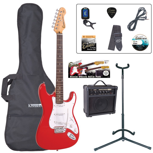 <p>The Encore E6 -Play Now' Blaster Pack is the UK's best first electric guitar starter pack money can buy!The Encore E6 is much more than the sum of its parts; if this IS your first electric guitar, you are gonna enjoy it like no other.</p> <p><b>Contents</b></p> <li>Encore E6 Electric Guitar</li> <li>Kinsman 10 Watt Guitar Amp</li> <li>Guitar Tech Tuner</li> <li>Kinsman Carry Bag</li> <li>Kinsman Guitar Stand</li> <li>Kinsman Guitar Lead</li> <li>Guitar Tech Guitar Strap</li> <li>Encore Tutorial DVD</li> <li>Spare Set of Strings</li> <li>Plectrum</li> <li>Tutor Listing</li>