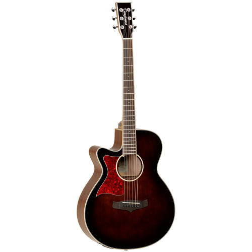 <p>In stock and ready to ship at MorMusic</p><p>Seen it cheaper elsewhere? We'll aim to match or beat any like for like price!</p><p>Winterleaf is an exciting new series from the Tanglewood design team. Created to meet the demands of the modern player, every Winterleaf guitar offers outstanding value with the highest standards of build quality and component features as standard. A closer look at the various model specifications will find some outstanding brands like B-Band Electronics, Grover machine heads and Tusq graphite saddles all partnering with the Winterleaf project concept team to deliver excellence throughout every price point and model.</p> <ul> <li><span>SHAPE:</span>&nbsp;Left Handed Super Folk Cutaway</li> <li><span>TOP:</span>&nbsp;Solid Spruce</li> <li><span>BACK:</span>&nbsp;Mahogany</li> <li><span>SIDES:</span>&nbsp;Mahogany</li> <li><span>NECK (MATERIAL):</span>&nbsp;Mahogany</li> <li><span>FINGERBOARD:</span>&nbsp;Techwood</li> <li><span>BRIDGE:</span>&nbsp;Techwood</li> <li><span>BINDING:</span>&nbsp;Maple</li> <li><span>SADDLE:</span>&nbsp;Nubone, Compensating</li> <li><span>NUT (WIDTH):</span>&nbsp;Nubone (43mm)</li> <li><span>SCALE LENGTH:</span>&nbsp;650mm</li> <li><span>MACHINE HEADS:</span>&nbsp;Chrome Grover</li> <li><span>FINISH:</span>&nbsp;Whiskey Barrel Gloss</li> <li><span>EQ:</span>&nbsp;B-Band M-450T</li> <li><span>STRINGS:</span>&nbsp;D&rsquo;Addario EXP16</li> <li><span>SKU:</span>&nbsp;TW4EWBLH</li> <li><span>UPC:</span>&nbsp;810944018944</li> </ul> <p><span>Dimensions:</span></p> <ul> <li>UPPER BOUT WIDTH: 276mm</li> <li>LOWER BOUT WIDTH: 378mm</li> <li>WAIST WIDTH: 232mm</li> <li>BODY DEPTH (TOP): 95mm</li> <li>BODY DEPTH (BOTTOM): 110mm</li> <li>BODY LENGTH: 480mm</li> <li>TOTAL LENGTH: 1010mm</li> </ul>
