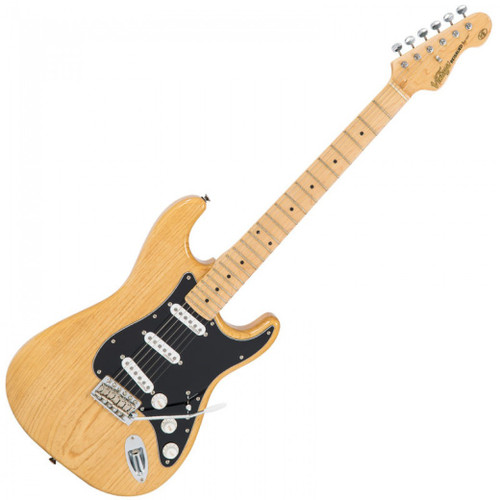 """<p>In stock and ready to ship at MorMusic</p><p>Seen it cheaper elsewhere? We'll aim to match or beat any like for like price!</p><p><span>Built using genuine tone woods, with top quality Wilkinson hardware and authentic recipe pickups, the Vintage Re-Issued Series V6 guitar punches well above its modest price tag.</span><br /><br /><span>The Vintage V6 offers an extraordinarily high level of specification, with many built-in custom shop level features. These include the revered Wilkinson WVC original specification vibrato featuring authentic bent steel saddles for that classic sparkle and tone; precision machined pivot points for total 'return to pitch&rsquo; accuracy and a stagger-drilled sustain block to prevent string hang-up. An adjustable, 'vintage bend&rsquo; push-in arm completes this definitive vibrato system.</span><br /><br /><span>Attention to authentic tone continues with the use of a matched and calibrated set of Wilkinson Alnico V single coil pickups, using a reverse wound/reverse polarity middle pickup for clarity and dynamics and feature true vintage-style chamfered edge polepieces. With one volume and two tone controls, the 5-way lever switch and control circuitry are configured for maximum tone, evenness of response and output for supreme versatility.</span></p> <table id=""""product-attribute-specs-table"""" class=""""data-table""""> <tbody> <tr class=""""first odd""""><th class=""""label"""">Colour</th> <td class=""""data last"""">Natural Ash</td> </tr> <tr class=""""even""""><th class=""""label"""">Body</th> <td class=""""data last"""">Ash</td> </tr> <tr class=""""odd""""><th class=""""label"""">Neck</th> <td class=""""data last"""">One Piece Hard Maple &ndash; Bolt-on</td> </tr> <tr class=""""even""""><th class=""""label"""">Frets</th> <td class=""""data last"""">22</td> </tr> <tr class=""""odd""""><th class=""""label"""">Nut Width</th> <td class=""""data last"""">42.5mm</td> </tr> <tr class=""""even""""><th class=""""label"""">Vibrato</th> <td class=""""data last"""">Wilkinson&reg; WVC</td> </tr> <tr class=""""odd""""><th class=""""label"""">Machine Heads</th> <td class="""""""