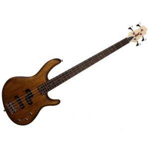 "<p>In stock and ready to ship at MorMusic</p><p>Seen it cheaper elsewhere? We'll aim to match or beat any like for like price!</p><p>The&nbsp;<strong>CORT&nbsp;Action PJ 4-String Bass Guitar, here in</strong>&nbsp;<strong>Open Pore Walnut,&nbsp;</strong>is a bass for those who want a dependable, versatile instrument on a budget. Crafted with great care and detail, this bass guitar features an ergonomic, coutoured body with a full scale Canadian Hard Maple neck, a Rosewood fingerboard and a set of versatile PJ pickups.</p> <p>Affordable but loaded with quality materials, components and craftsmanship, the Action Series basses define value for the aspiring bass player with versatile features and killer looks.</p> <p>Firstly the Poplar body on this bass guitar has an open pore finish which allows the player to see the grain of the wood itself while also improving natural acoustic resonance. Being made from this well seasoned wood also gives the Action PJ a lightweight stance which makes it more suited to long periods of playing and all types of players.&nbsp;</p> <p>This Cort bass keeps it simple yet versatile in the pickup department. All electronics are passive just like the vintage basses of the past, the difference with this model is that it houses not just a P bass style pickup which are great for styles such as&nbsp;hard rock, classic rock and Motown, but it also has a J bass style pickup which has made a name for itself in genres such as Jazz and Pop. This gives any bassist access to both these tonal spectrums on demand with the turn of a knob.&nbsp;</p> <ul> <li>Open Pore Walnut finish&nbsp;</li> <li>Bolt on neck&nbsp;</li> <li>Double cutaway&nbsp;</li> <li>Poplar body&nbsp;</li> <li>Canadian Hard Maple neck&nbsp;</li> <li>Rosewood fingerboard</li> <li>24 frets&nbsp;</li> <li>34"" scale&nbsp;</li> <li>White dot inlays&nbsp;</li> <li>Diescast tuners</li> <li>EB6 Bridge&nbsp;</li> <li>PSEB4-4 &amp; PSEB1-4R pickups (PJ)&nbsp;</li> <li>Passive electronics&nbsp;</li> <li>4 strings</li> <li>Chrome hardware&nbsp;</li> </ul>"