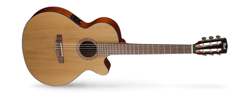 <p>In stock and ready to ship at MorMusic</p><p>Seen it cheaper elsewhere? We'll aim to match or beat any like for like price!</p>CEC models that borrow from steel-string cutaway acoustic-electrics with cutaways, narrower nut width, and Fishman electronics. The traditional style AC models have been re-engineered to improve resonance for an authentic classical guitar sound while the CEC models feature slim body with cutaway, 45mm nut width and electronics for steel-string players who love the nylon-string sound.