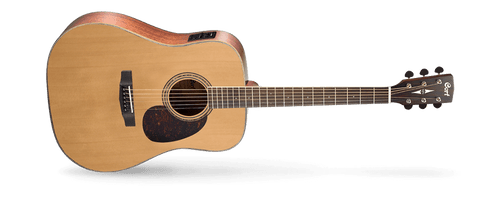 As CortÌâ‰Ûªs homage to the great vintage acoustic guitars, the Earth Series represents the look, sound, feel and playability of those fine instruments with uncompromising quality and excellent value. Ideal for both flatpicking and fingerstyle players, the Earth Series guitars feature such time-tested classic materials like solid spruce top, Adirondack spruce top, mahogany back and sides and Madagascar rosewood.