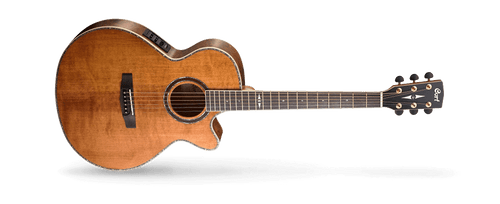 As CortÌâ‰Ûªs vision of the modern acoustic-electric, the SFX Series features CortÌâ‰Ûªs own slim body shape (83*83mm) with cutaway, modern V-shape neck profile for enhanced playability and speed, arched back for improved resonance, jumbo frets and Fishman electronics. The SFX is for the thoroughly modern player who isnÌâ‰Ûªt bound to tradition.