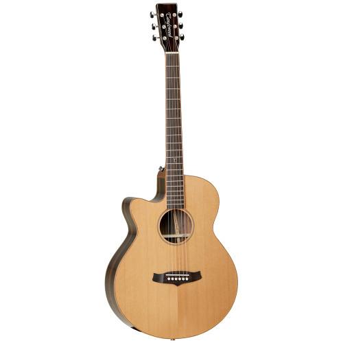"<p>In stock and ready to ship at MorMusic</p><p>Seen it cheaper elsewhere? We'll aim to match or beat any like for like price!</p><h1 class=""product product-image"" data-xplr=""inv-1-89978"">Tanglewood TWJSF CE LH Java Series Super Folk Electro Acoustic Guitar - Left Handed</h1> <ul> <li></li> <li><span>SHAPE:</span>&nbsp;Super Folk</li> <li><span>TOP:</span>&nbsp;Solid Cedar</li> <li><span>BACK:</span>&nbsp;Amara/Spalt Mango</li> <li><span>SIDES:</span>&nbsp;Amara</li> <li><span>NECK (MATERIAL):</span>&nbsp;Nato</li> <li><span>FINGERBOARD:</span>&nbsp;*</li> <li><span>BRIDGE:</span>&nbsp;*</li> <li><span>BINDING:</span>&nbsp;Mahogany</li> <li><span>SADDLE:</span>&nbsp;PPS, Compensating</li> <li><span>NUT (WIDTH):</span>&nbsp;PPS (43mm)</li> <li><span>SCALE LENGTH:</span>&nbsp;650mm</li> <li><span>MACHINE HEADS:</span>&nbsp;Open Back Nickel Vintage</li> <li><span>FINISH:</span>&nbsp;Natural Gloss</li> <li><span>EQ:</span>&nbsp;Fishman Presys</li> <li><span>STRINGS:</span>&nbsp;D&rsquo;Addario EXP16</li> <li><span>SKU:</span>&nbsp;TWJSFCELH</li> <li><span>RANGE:</span>&nbsp;Java</li> <li><span>UPC:</span>&nbsp;810944017992</li> </ul> <p><em>*Timber in accordance with Cities regulations</em></p>"