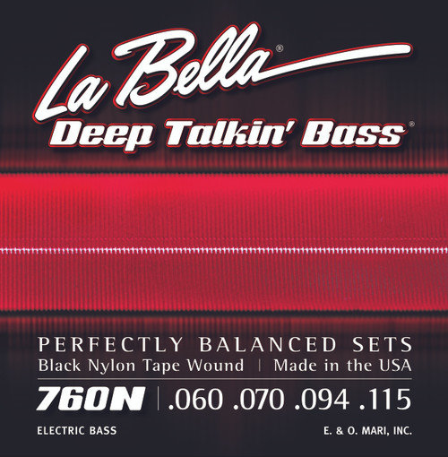 <p>In stock and ready to ship at MorMusic</p><p>Seen it cheaper elsewhere? We'll aim to match or beat any like for like price!</p>760N Deep Talkin' Bass Black Nylon Tape Wound - 60-115