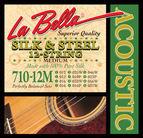 <p>In stock and ready to ship at MorMusic</p><p>Seen it cheaper elsewhere? We'll aim to match or beat any like for like price!</p>710-12M 12-String Silk & Steel - Medium