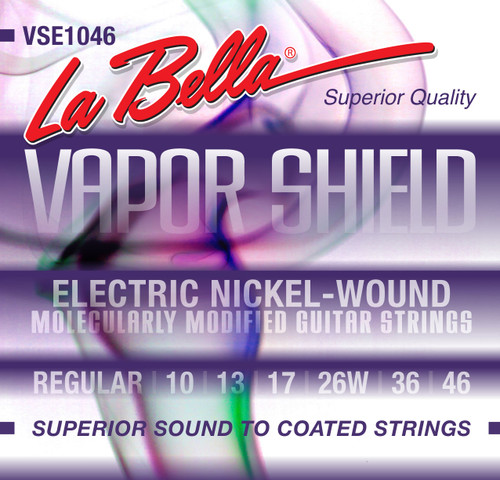 <p>In stock and ready to ship at MorMusic</p><p>Seen it cheaper elsewhere? We'll aim to match or beat any like for like price!</p>VSE1046 Vapor Shield Electric Guitar Strings - Regular 10-46