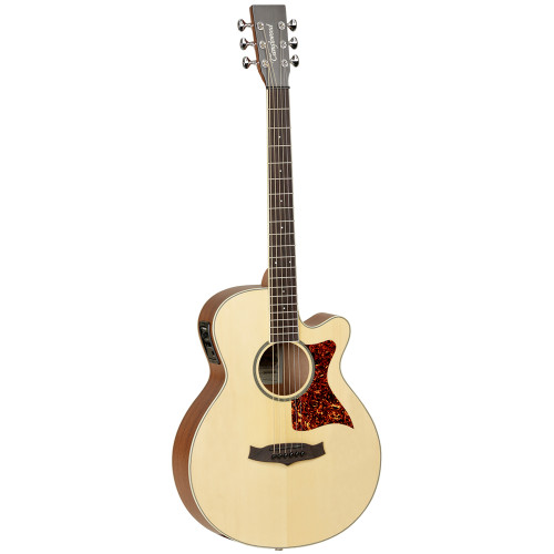 <p>In stock and ready to ship at MorMusic</p><p>Seen it cheaper elsewhere? We'll aim to match or beat any like for like price!</p><ul> <li> <p>The all new Sundance Premier series of stage ready electro acoustic cutaway guitars feature hand selected solid Sitka Spruce tops, which are matched with arched Mahogany backs for increased sound projection.</p> <p>They are manufactured with the most premium of source materials and a customary high level of hand craftsmanship.</p> <p>One piece Mahogany necks with a volte reinforcement system, onboard Fishman electronics for optimum stage performance &amp; contemporary high ratio chrome machine heads are all features that are a pre requisite for first class instruments. The models are finished in a delicate satin matt lacquer finish.</p> </li> <li><span>SHAPE:</span>&nbsp;Super Folk</li> <li><span>TOP:</span>&nbsp;Solid Spruce</li> <li><span>BACK:</span>&nbsp;Mahogany, Radiused Curve</li> <li><span>SIDES:</span>&nbsp;Mahogany</li> <li><span>NECK (MATERIAL):</span>&nbsp;Mahogany</li> <li><span>FINGERBOARD:</span>&nbsp;*</li> <li><span>BRIDGE:</span>&nbsp;*</li> <li><span>BINDING:</span>&nbsp;Herringbone</li> <li><span>SADDLE:</span>&nbsp;Black Nubone</li> <li><span>NUT (WIDTH):</span>&nbsp;Black Nubone (43mm)</li> <li><span>SCALE LENGTH:</span>&nbsp;650mm</li> <li><span>MACHINE HEADS:</span>&nbsp;Chrome Gotoh</li> <li><span>FINISH:</span>&nbsp;Natural Open Pore Satin</li> <li><span>EQ:</span>&nbsp;Fishman Presys</li> <li><span>STRINGS:</span>&nbsp;Elixir Phosphor Bronze</li> <li><span>SKU:</span>&nbsp;TSP45</li> <li><span>RANGE:</span>&nbsp;Sundance Premier</li> <li><span>UPC:&nbsp;</span>810944012850</li> </ul> <p><em>*Timber in accordance with Cities regulations</em></p> <p><span>Dimensions:</span></p> <ul> <li>UPPER BOUT WIDTH: 276mm</li> <li>LOWER BOUT WIDTH: 378mm</li> <li>WAIST WIDTH: 232mm</li> <li>BODY DEPTH (TOP): 92mm</li> <li>BODY DEPTH (BOTTOM): 110mm</li> <li>BODY LENGTH: 480mm</li> <li>TOTAL LENGTH: 1010mm</li> </ul>