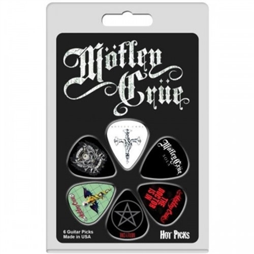 <p>In stock and ready to ship at MorMusic</p><p>Seen it cheaper elsewhere? We'll aim to match or beat any like for like price!</p><p>Motley Crue Guitar Picks by Perris - selection may vary from photo. Pack of 6 picks in blister pack - FREE DELIVERY.</p>