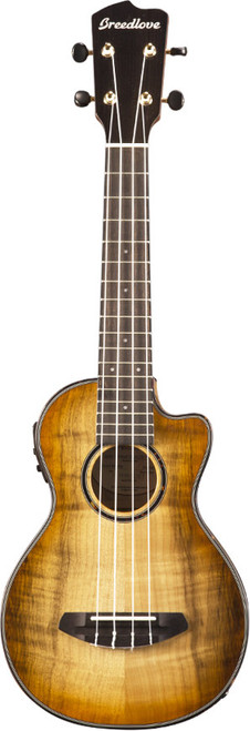 "<p>In stock and ready to ship at MorMusic</p><p>Seen it cheaper elsewhere? We'll aim to match or beat any like for like price!</p><div class=""row""> <div class=""col-xs-12""> <p>For years, Kim Breedlove departed the Breedlove workshop on late afternoons &ndash; just to go to his home garage workshop and craft ukuleles. Now retired, we are delighted to introduce Kim&rsquo;s Breedlove Lu&rsquo;au Concert Ukuleles. Each designed in Bend, Oregon, crafted in China from Oregon myrtlewood, design based on Kim&rsquo;s custom shape and bracing.</p> </div> </div> <div class=""row product-content""> <div class=""col-xs-12""> <h3>Specification</h3> <table> <tbody> <tr> <td><span>Body Type</span></td> <td>Concert Ukulele</td> </tr> <tr> <td><span>Neck Wood</span></td> <td>Mahogany (Nato)</td> </tr> <tr> <td><span>Solid Wood Top</span></td> <td>Solid Myrtlewood</td> </tr> <tr> <td><span>Back &amp; Sides</span></td> <td>Myrtlewood</td> </tr> <tr> <td><span>Top Finish</span></td> <td>Natural Shadow Gloss</td> </tr> <tr> <td><span>Back &amp; Side Finish</span></td> <td>Aged Toner Gloss</td> </tr> <tr> <td><span>Fretboard</span></td> <td>Ovangkol</td> </tr> <tr> <td><span># Frets</span></td> <td>17</td> </tr> <tr> <td><span>Nut Width</span></td> <td>1.42""</td> </tr> <tr> <td><span>Tuners Hardware</span></td> <td>Gold Open Gear</td> </tr> <tr> <td><span>Lower Bout Width</span></td> <td>8""</td> </tr> <tr> <td><span>Waist Width</span></td> <td>4.7""</td> </tr> <tr> <td><span>Upper Bout Width</span></td> <td>5.75""</td> </tr> <tr> <td><span>Body Length</span></td> <td>11.2""</td> </tr> <tr> <td><span>Body Depth</span></td> <td>2.24"" (neck), 2.68"" (tail)</td> </tr> <tr> <td><span>String Gauge</span></td> <td>Aquila Super Nylgut</td> </tr> <tr> <td><span>Pickup</span></td> <td>UK-T1</td> </tr> <tr> <td><span>Bridge</span></td> <td>Ovangkol</td> </tr> <tr> <td><span>Binding</span></td> <td>Tortoise</td> </tr> <tr> <td><span>Inlay</span></td> <td>Centered Dots</td> </tr> <tr> <td><span>Case</span></td> <td>None</td> </tr> <tr> <td><span>Scale Length</span></td> <td>15""</td> </tr> <tr> <td><span>Sound Hole</span></td> <td>2.185""</td> </tr> <tr> <td><span>Crafted In</span></td> <td>China</td> </tr> </tbody> </table> </div> </div>"