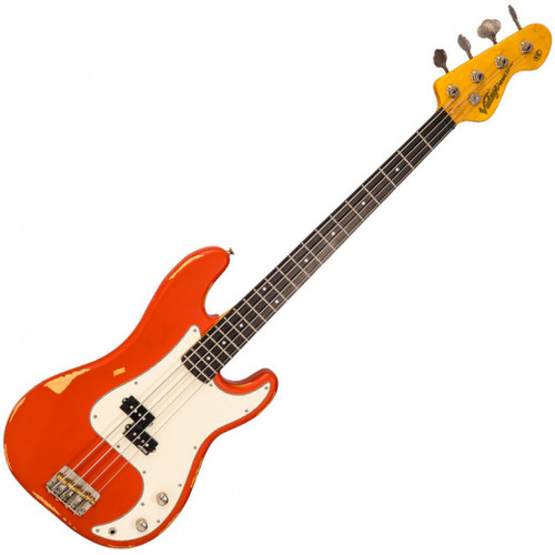 <p>In stock and ready to ship at MorMusic</p><p>Seen it cheaper elsewhere? We'll aim to match or beat any like for like price!</p><p><span>The Vintage V4MRFR ICON bass replicates the beautiful, worn-in look and feel of an instrument that exhibits a lifetime's worth of woodshedding, rehearsing and performing, straight out of the box. Good things come to those who wait &ndash; but who has the time for that?</span><br /><br /><span>Featuring a Wilkinson WOBP&nbsp;pickup, compensated brass saddle bridge and improved upper fret access, the Vintage V4MRFR is true player&rsquo;s instrument that&rsquo;s ready to turn its hand to any number of musical styles.</span><br /><br /><span>A Vintage ICON Series Bass already looks like your lifetime companion; the best part is your journey is just beginning. Play on.</span></p> <p><strong>V4&nbsp;</strong><strong>Features</strong></p> <p><strong>Body:</strong><br />Eastern poplar body for improved resonance, tone and &lsquo;correct weight&rsquo; comfort, enhanced with correctly radiused contoured body.<br /><br /><strong>Neck:</strong><br />Hard Maple bolt on neck for instant comfort, speed, accuracy and great feel.<br /><br /><strong>Frets:</strong><br />20 Medium profile frets add to comfort, accuracy and overall positive feel of the Vintage V4MRFR.<br /><br /><strong>Nut:</strong><br />43mm black graphite stays smooth and friction-free.<br /><br /><strong>Bridge:</strong><br />Wilkinson three saddle compensated brass bridge provides improved intonation all over the fretboard.<br /><br /><strong>Machine heads:</strong><br />Wilkinson WJBL200 ensure smooth and stable tuning.<br /><br /><strong>Pickups:</strong><br />One Wilkinson WOBP&nbsp;single coil pickup for ultimate clarity and articulation.<br /><br /><strong>Controls:</strong><br />Single Volume and tone controls.<br /><br /><strong>Headstock:</strong><br />Classic Vintage headstock design for balance and visual appeal.<br /><br />The V4&trade; is an original Vintage&reg; IC