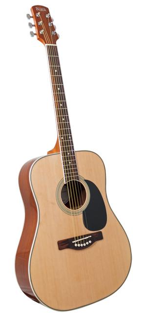 """<p>In stock and ready to ship at MorMusic</p><p>Seen it cheaper elsewhere? We'll aim to match or beat any like for like price!</p><ul> <li> <div class=""""short-description""""> <div class=""""std""""> <p>S-2 acoustic guitar in natural.</p> </div> </div> <div class=""""add-to-cart-wrapper"""">&nbsp;</div> </li> <li>Dreadnought</li> <li>Dove Tail Neck Join</li> <li>Laminated Spruce Top</li> <li>Standard Bracing</li> <li>Laminated Mahogany Back &amp; Sides</li> <li>Mahogany Neck</li> <li>Purpleheart Fingerboard &amp; Bridge</li> <li>Dot Inlays</li> <li>25 1/2&rdquo; Scale</li> <li>Chrome Diecast Tuners</li> </ul>"""