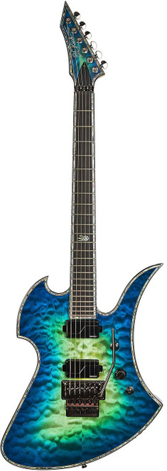 "<p>In stock and ready to ship at MorMusic</p><p>Seen it cheaper elsewhere? We'll aim to match or beat any like for like price!</p><div class=""short-description""> <div class=""std""> <p>B.C. Rich guitars always stuck out of the crowd for their uniqueness and innovative solutions. This 50th Anniversary of the company brings another bold push toward the future of modern guitar making.</p> <p>All 2019 (and forward) B.C. Rich guitars are featuring innovative upgrades and are factory optimized for speed and playability. All 2019 models have the latest electronics, USA made pickups and the best available hardware money can buy.</p> <p>Every guitar is a Neck-through construction and the back of the neck (beside a satin finish for speed) are not just heal-less but feature our new &ldquo;Shredzilla&rdquo; deep cut for the easiest possible access to the higher notes.</p> <p>The legendary shapes, the B.C. Rich tone and quality combined&nbsp; with the latest technology and innovations. Designed by shredders &ndash; for the shredders.</p> &nbsp;</div> </div> <div class=""add-to-cart-wrapper""><span>BODY SHAPE: Mockingbird Extreme</span><br /><span>CONSTRUCTION: No heel Neck-Thru body</span><br /><span>BODY WOOD: Mahogany &ldquo;Nyatoh Palaquium&rdquo;</span><br /><span>TOP WOOD: Burled Maple</span><br /><span>SIDES: Abalone Binding</span><br /><span>NECK SHAPE: Shredzilla Ultra Slim Contour with Satin Finish For Speed</span><br /><span>NECK WOOD: 5-piece Maple/Wenge neck for stability</span><br /><span>SCALE: 25.5&rdquo;</span><br /><span>TRUSS ROD: Dual Adjust</span><br /><span>HEADSTOCK: 6-Inline reversed with Abalone Biding</span><br /><span>FRETBOARD MATERIAL: Indian Ebony fretboard</span><br /><span>RADIUS: 14-degree</span><br /><span>FRET SIZE: Extra Jumbo</span><br /><span>NUMBER OF FRETS: 24</span><br /><span>INLAYS: Extreme Abalone inlay 12th fret</span><br /><span>NUT: Locking Floyd Rose</span><br /><span>NUT WIDTH: 1.625&rdquo;</span><br /><span>BRIDGE: Floyd Rose</span><br /><span>TUNING MACHINES: Grover Rotomatic 18:1 ratio</span><br /><span>NECK PICKUP: Fishman&reg; Fluence Modern Humbucker Alnico</span><br /><span>BRIDGE PICKUP: Fishman&reg; Fluence Modern Humbucker Ceramic</span><br /><span>ACTIVE EQ: Yes</span><br /><span>CONTROL LAYOUT: 1 x volume (push-pull voice selector) 3-way toggle&nbsp;and push button kill switch</span><br /><span>COIL TAP OR SPLIT: Fishman&reg; Fluence Voicing switch on volume&nbsp;control (push/pull)</span><br /><span>KILL SWITCH: Yes</span><br /><span>SPECIAL ELECTRONICS: 25k&Omega; audio-taper pots</span><br /><span>SPECIAL FEATURES: No Heel Shredzilla Neck cut for easy access</span><br /><span>ACCESSORIES: Straplocks Included</span><br /><span>COUNTRY OF ORIGIN: Korea</span></div>"
