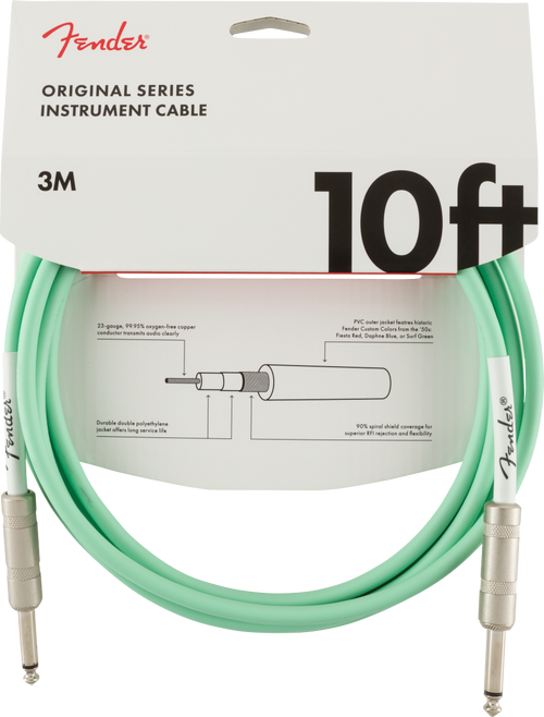<p>In stock and ready to ship at MorMusic</p><p>Seen it cheaper elsewhere? We'll aim to match or beat any like for like price!</p><p><span>Fender Original Series cables were designed by combining solid construction&mdash;featuring spiral shielding and durable nickel-plated connectors&mdash;with inimitable Fender styling to create a high-performance, reliable choice for your cable needs in the studio and on stage.</span></p>