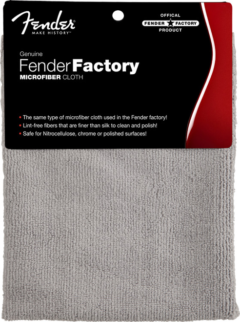 <p>In stock and ready to ship at MorMusic</p><p>Seen it cheaper elsewhere? We'll aim to match or beat any like for like price!</p><p><span>Get that new-from-the-factory shine with a genuine Fender Factory Microfiber Cloth&mdash;the same cloth used in Fender manufacturing facilities on brand-new instruments. With its fine yet durable microfiber construction, this cloth is great for maintaining the look of any instrument, letting you show off your sheen without scratches or smudges.</span></p>