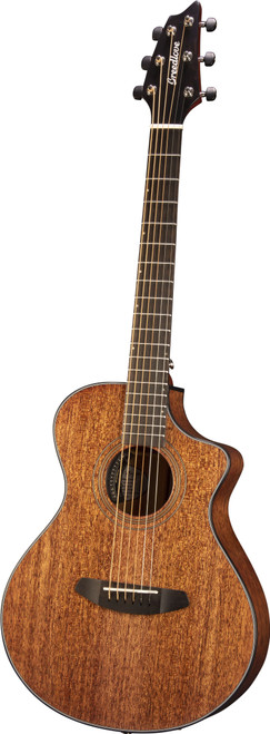 """<p>In stock and ready to ship at MorMusic</p> <p>Seen it cheaper elsewhere? We'll aim to match or beat any like for like price!</p> <p><span>A satin-finished all-solid African mahogany body makes the Wildwood Companion Satin CE an instant Americana icon&mdash;and one that fits as comfortably on the trail, on the plane or at the beach as it does in the office. Never before has a travel guitar offered such warm, full sound and comfortable playability. Whether practising or performing, Breedlove&rsquo;s Companion shape rewards hours of play with classic tone. It&rsquo;s loud enough to rock the next jam and chill enough to work in the hotel room or for writing songs in the dorm or when the kids are asleep. And its simple, striking satin finish will make you want to pick it up again and again.</span></p> <ul> <li>Body Type: Companion</li> <li>Neck Wood<span>:&nbsp;</span>African Mahogany</li> <li>Solid Wood Top<span>:&nbsp;</span>African Mahogany</li> <li>Solid Wood Back &amp; Sides<span>:&nbsp;</span>African Mahogany</li> <li>Top Finish<span>:&nbsp;</span>Satin (Mahogany Stain)</li> <li>Fretboard<span>:&nbsp;</span>Indian Laurel</li> <li># Frets<span>:&nbsp;</span>19</li> <li>Nut Width<span>:&nbsp;</span>1.69""""</li> <li>Tuners Hardware<span>:&nbsp;</span>Premium Breedlove Chrome w/ Black buttons</li> <li>Lower Bout Width<span>:&nbsp;</span>13.53""""</li> <li>Waist Width<span>:&nbsp;</span>7.9299""""</li> <li>Upper Bout Width<span>:&nbsp;</span>9.9299""""</li> <li>Body Length<span>:&nbsp;</span>17.5""""</li> <li>Body Depth<span>:&nbsp;</span>3.75"""" (neck), 4.5"""" (tail)</li> <li>String Gauge<span>:&nbsp;</span>Olympia light (.012""""-.053"""")</li> <li>Pickup<span>:&nbsp;</span>Breedlove Natural Sound (Microsonic VT HD 2-AAA)</li> <li>Bridge<span>:&nbsp;</span>Indian Laurel</li> <li>Binding<span>:&nbsp;</span>Tortoise (6mm)</li> <li>Inlay<span>:&nbsp;</span>Offset Dots</li> <li>Scale Length<span>:&nbsp;</span>23.5""""</li> <li>Sound Hole<span>:&nbsp;</span>3.54""""</li> </ul>"""