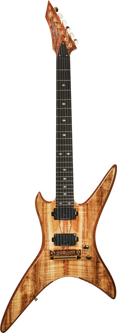 """<p><span>BODY SHAPE:&nbsp;Stealth Extreme Exotic</span><br /><span>CONSTRUCTION:&nbsp;No heel Neck-Thru body</span><br /><span>BODY WOOD:&nbsp;Mahogany """"Nyatah Palaquium""""</span><br /><span>TOP WOOD: Spalted Maple</span><br /><span>SIDES:&nbsp;Abalone Binding</span><br /><span>NECK SHAPE:&nbsp;Shredzilla Ultra Slim Countour with Satin Finish For Speed</span><br /><span>NECK WOOD:&nbsp;5-piece Maple/Wenge neck for stability</span><br /><span>SCALE:&nbsp;25.5</span><br /><span>TRUSS ROD:&nbsp;Dual Adjust</span><br /><span>HEADSTOCK:&nbsp;6-Inline with Abalone Biding</span><br /><span>FRETBOARD MATERIAL:&nbsp;Indian Ebony fretboard</span><br /><span>RADIUS:&nbsp;14-degree</span><br /><span>FRET SIZE:&nbsp;Extra Jumbo</span><br /><span>NUMBER OF FRETS:&nbsp;24</span><br /><span>INLAYS:&nbsp;Extreme Abalone inlay 12th fret</span><br /><span>NUT: GraphTech</span><br /><span>NUT WIDTH:&nbsp;1.625&rdquo;</span><br /><span>BRIDGE: B.C. Rich Quad</span><br /><span>TUNING MACHINES:&nbsp;Grover Rotomatic 18:1 ratio</span><br /><span>PICKUP CONFIGURATION:&nbsp;Dual Humbuckers</span><br /><span>NECK PICKUP:&nbsp;Fishman&reg; Fluence Modern Humbucker Alnico (H) neck pickup, Made in USA</span><br /><span>BRIDGE PICKUP:&nbsp;Fishman&reg; Fluence Modern Humbucker Ceramic bridge pickup, Made in USA</span><br /><span>PICKUP TYPE:&nbsp;Fishman Direct Mount Humbuckers</span><br /><span>CONTROL LAYOUT:&nbsp;1 x volume (push-pull voice selector) 3-way toggle and push-button kill switch</span><br /><span>COIL TAP OR SPLIT:&nbsp;Fishman&reg; Fluence Voicing switch on volume control (push/pull)</span><br /><span>KILL SWITCH:&nbsp;Yes</span><br /><span>SPECIAL ELECTRONICS:&nbsp;25k Linear pots</span><br /><span>STRINGS:&nbsp;D'Addario NYXL0946</span><br /><span>SPECIAL FEATURES:&nbsp;No Heel Shredzilla Neck cut for easy access to the 24th fret</span><br /><span>ACCESSORIES:&nbsp;Locking Straplocks</span><br /><span>COUNTRY OF ORIGIN:&nbsp;Korea</span></p>"""
