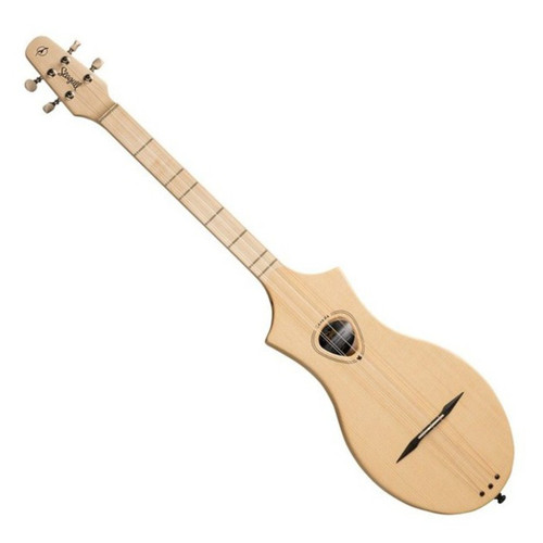 MorMusic - The Guitar Specialists Est 1985  In stock and ready to ship at MorMusic  Seen it cheaper elsewhere? We'll aim to match or beat any like for like price!  The Seagull Guitars M4 Spruce Lefthanded is a ukulele type instrument inspired by the design and tonal properties of the Dulcimer. Fun, compact and easy to play, this portable 4 string diatonic instrument is designed to introduce people of all ages and abilities to music. Crafted from solid spruce with maple back and sides, the M4 G offers a powerful projection with stunning visual properties and ornate decorations. An ideal instrument for travelling musicians who are limited for space and require a powerful tone.