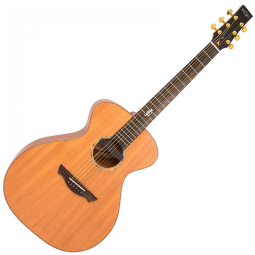 "MorMusic - The Guitar Specialists Est 1985  In stock and ready to ship at MorMusic  Seen it cheaper elsewhere? We'll aim to match or beat any like for like price!  The VE3000MGG is a labour of love by master guitarist Gordon Giltrap, luthier Rob Armstrong and Vintage brand owner JHS.  In January 2018, Jamie Giltrap, a popular Drum and Bass musician and son of Gordon Giltrap, sadly passed away. The decision was swiftly taken by Gordon and JHS to create a lasting tribute to Jamie's memory, and plans for the production of the VE3000MGG were quickly begun.  Featuring all solid wood construction, the VE3000MGG's table, back and sides are made from mahogany, while the guitar's bridge and fingerboard are crafted from ebony. The fingerboard itself features Jamie's initials 'JG', inlaid in abalone at the 12th fret, whilst a specially designed soundhole label completes Gordon's touching tribute to his son; ""IN MEMORY OF DJ TANGO JAMIE GILTRAP."""