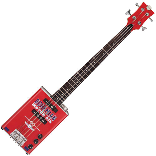 Bohemian Oil Can Bass Guitar ~ Motor Oil