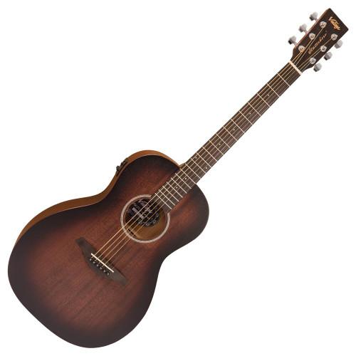 Vintage Statesboro' 'Parlour' Electro-Acoustic Guitar ~ Whisky Sour