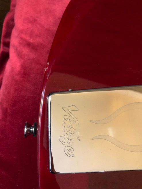 Vintage VS6V ReIssued ~ Vibrola Tailpiece ~ Cherry Red - B Grade
