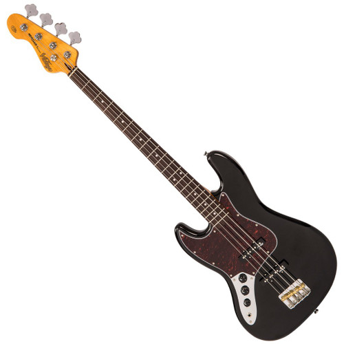 Vintage VJ74 ReIssued ~ Bass Gloss Black ~ Left Hand