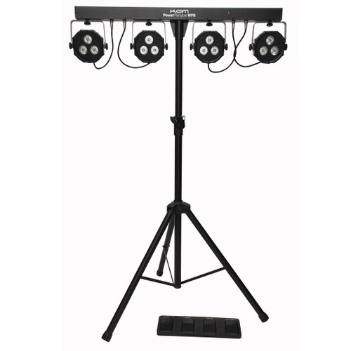 Kam Power Party Bar WFS Lights ~ inc lights, stand, footswitch & bag