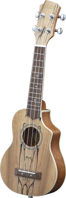 Adam Black Exotic Wood Series Soprano CE Ukulele - Spalted Maple