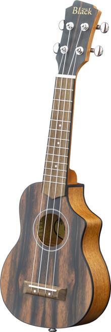 Adam Black Exotic Wood Series Soprano CE Ukulele - Striped Ebony