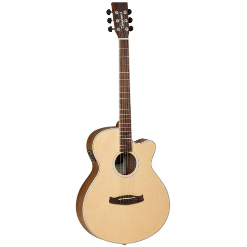 "<p>In stock and ready to ship at MorMusic</p><p>Seen it cheaper elsewhere? We'll aim to match or beat any like for like price!</p><p>Tanglewood recognise that to introduce people to music an instrument must have a high build quality, good playability, attractive cosmetics and as many features as possible to encourage and reward aspiring musicians. Using this design brief, Tanglewood luthiers created the Discovery Acoustic series, a whole range of genuine musical instruments which feature 3 band EQ systems with stage backlighting, delicate 2mm fingerboard dots, black soft touch machine head buttons and understated sound hole rosettes, all aimed at bringing the specification of a much more expensive instrument into the entry level market.</p> <ul type=""disc""> <li><strong><span>SHAPE:</span></strong><span>&nbsp;Super Folk</span></li> <li><strong><span>TOP:</span></strong><span>&nbsp;Spruce</span></li> <li><strong><span>BACK:</span></strong><span>&nbsp;Black Walnut</span></li> <li><strong><span>SIDES:</span></strong><span>&nbsp;Black Walnut</span></li> <li><strong><span>NECK (MATERIAL):</span></strong><span>&nbsp;Mahogany</span></li> <li><strong><span>FINGERBOARD:</span></strong><span>&nbsp;Rosewood</span></li> <li><strong><span>BRIDGE:</span></strong><span>&nbsp;Rosewood</span></li> <li><strong><span>BINDING:</span></strong><span>&nbsp;Genuine Maple</span></li> <li><strong><span>SADDLE:</span></strong><span>&nbsp;ABS White</span></li> <li><strong><span>NUT (WIDTH):</span></strong><span>&nbsp;ABS White (43mm)</span></li> <li><strong><span>SCALE LENGTH:</span></strong><span>&nbsp;650mm</span></li> <li><strong><span>MACHINE HEADS:</span></strong><span>&nbsp;Chrome Die Cast</span></li> <li><strong><span>FINISH:</span></strong><span>&nbsp;Natural Open Pore Satin</span></li> <li><strong><span>EQ:</span></strong><span>&nbsp;Tanglewood TEQ-3BT</span></li> <li><strong><span>STRINGS:</span></strong><span>&nbsp;Bronze 12-53</span></li> <li><strong><span>SKU:</span></strong><span>&nbsp;DBTSFCEBW</span></li> <li><strong><span>UPC:</span></strong><span>&nbsp;810944018081</span></li> </ul>"