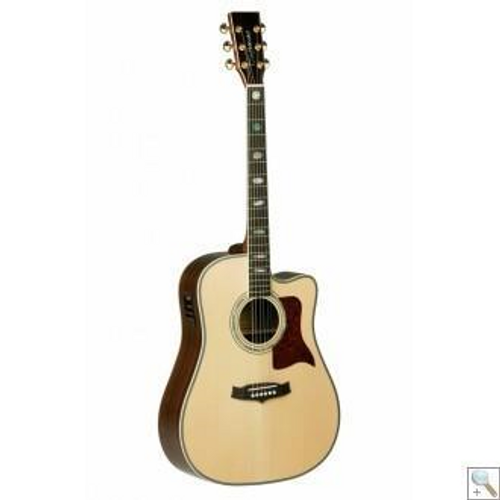 "<p>In stock and ready to ship at MorMusic</p><p>Seen it cheaper elsewhere? We'll aim to match or beat any like for like price!</p><h2>Overview</h2> <div id=""shop_product_long_description_4728""> <p>The attraction of this world beating guitar is embelished by it's natural abalone block inlays set at the 1st, 3rd, 5th, 7th, 9th, 12th 15th and 17th frets and It's natural triple abalone rosette and classic herringbone soundboard inlay.</p> <p>The neck features a Martin type 'volute' for extra strength and stability and is built from solid mahogany. The neck is fitted with a nickel silver fretted rosewood fingerboard. Gold USA Grover tuners give you the securiity of positive trouble free tuning. A hand carved bone top nut and compensated saddle are fitted as standard. Elixir strings are fitted as standard. Supplied with a 2 year warranty that is only available from genuine Tanglewood Guitar Specialist Centres.</p> </div>"