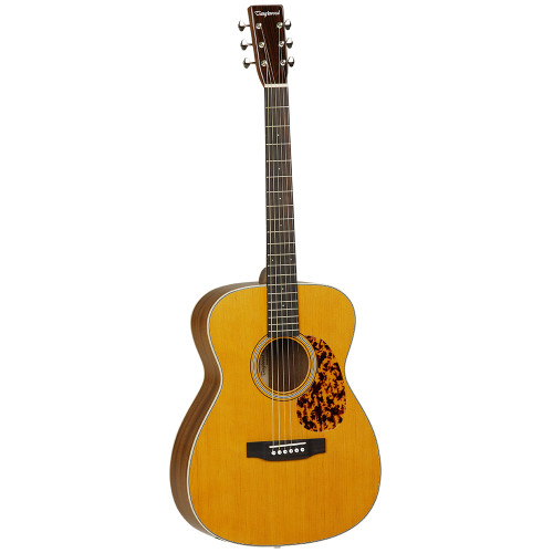 """<p>In stock and ready to ship at MorMusic</p><p>Seen it cheaper elsewhere? We'll aim to match or beat any like for like price!</p><p>Carefully designed to offer an authentic tone and character by master luthier Michael Sanden, the influence of Michael on the sound of these wonderful guitars is very evident. Just three body styles are needed to meet any players requirement... Folk, Dreadnought and Slope Shoulder, all fitted with Fishman Sonitone electronics onboard. The solid Spruce tops are tuned, braced, and aged to produce optimum performance and their understated looks are certainly deceiving, the minute you strum a chord and hear how great they sound youåÕll find a Sundance Historic guitar very difficult to put back down.</p> <p>&nbsp;</p> <ul> <li><span>SHAPE:</span>&nbsp;Orchestra</li> <li><span>TOP:</span>&nbsp;Solid Spruce</li> <li><span>BACK:</span>&nbsp;Mahogany</li> <li><span>SIDES:</span>&nbsp;Mahogany</li> <li><span>NECK (MATERIAL):</span>&nbsp;Mahogany</li> <li><span>FINGERBOARD:</span>&nbsp;*</li> <li><span>BRIDGE:</span>&nbsp;*</li> <li><span>BINDING (TOP):</span>&nbsp;ABS Black &amp; White</li> <li><span>BINDING (SIDE):</span>&nbsp;ABS Ivory</li> <li><span>SADDLE:</span>&nbsp;Bone, Compensating</li> <li><span>NUT (WIDTH):</span>&nbsp;Bone (44.5mm)</li> <li><span>SCALE LENGTH:</span>&nbsp;650mm</li> <li><span>BRIDGE PINS:</span>&nbsp;Ivory ABS with Black Dots</li> <li><span>MACHINE HEADS:</span>&nbsp;Open Back Waverly style</li> <li><span>FINISH:</span>&nbsp;Natural Gloss</li> <li><span>EQ:</span>&nbsp;Fishman Sonitone</li> <li><span>STRINGS:</span>&nbsp;Elixir Nanoweb Light 12&rsquo;s</li> <li><span>CASE:</span>&nbsp;Includes&nbsp;<a href=""""http://www.tanglewoodguitars.co.uk/product/twabs/"""">Deluxe ABS Hardcase</a></li> <li><span>SKU:</span>&nbsp;TW40OANE</li> <li><span>RANGE:</span>&nbsp;Sundance&nbsp;Historic</li> <li><span>UPC:</span>&nbsp;810944014885</li> </ul> <p><em>*Timber in accordance with Cities regulations</em></p> <p><span>Dimensions:</sp"""