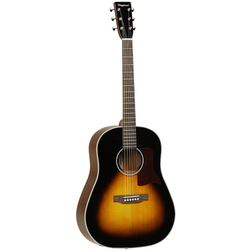 """<p>In stock and ready to ship at MorMusic</p><p>Seen it cheaper elsewhere? We'll aim to match or beat any like for like price!</p><p>Tanglewood TW40 SD VSE Slope Shoulder Dreadnought Solid Spruce Top, Mahogany Back and Sides Vintage Sunburst Finish with EQ</p> <ul> <li><span>SHAPE:</span>&nbsp;Sloped Shoulder Dreadnought</li> <li><span>TOP:</span>&nbsp;Solid Spruce</li> <li><span>BACK:</span>&nbsp;Mahogany</li> <li><span>SIDES:</span>&nbsp;Mahogany</li> <li><span>NECK (MATERIAL):</span>&nbsp;Mahogany</li> <li><span>FINGERBOARD:</span>&nbsp;*</li> <li><span>BRIDGE:</span>&nbsp;*</li> <li><span>BINDING (TOP):</span>&nbsp;ABS Black &amp; White</li> <li><span>BINDING (SIDE):</span>&nbsp;ABS Ivory</li> <li><span>SADDLE:</span>&nbsp;Bone, Compensating</li> <li><span>NUT (WIDTH):</span>&nbsp;Bone (44.5mm)</li> <li><span>SCALE LENGTH:</span>&nbsp;650mm</li> <li><span>BRIDGE PINS:</span>&nbsp;Ivory ABS with Black Dots</li> <li><span>MACHINE HEADS:</span>&nbsp;Open Back Waverly style</li> <li><span>FINISH:</span>&nbsp;Vintage Sunburst Gloss</li> <li><span>EQ:</span>&nbsp;Fishman Sonitone</li> <li><span>STRINGS:</span>&nbsp;Elixir Nanoweb Light 12&rsquo;s</li> <li><span>CASE:</span>&nbsp;Includes&nbsp;<a href=""""http://www.tanglewoodguitars.co.uk/product/twabs/"""">Deluxe ABS Hardcase</a></li> <li><span>SKU:</span>&nbsp;TW40SDVSE</li> <li><span>RANGE:</span>&nbsp;Sundance&nbsp;Historic</li> <li><span>UPC:</span>&nbsp;810944014786</li> </ul> <p><em>*Timber in accordance with Cities regulations</em></p> <p><span>Dimensions:</span></p> <ul> <li>UPPER BOUT WIDTH: 291mm</li> <li>LOWER BOUT WIDTH: 403mm</li> <li>WAIST WIDTH: 278mm</li> <li>BODY DEPTH (TOP): 101mm</li> <li>BODY DEPTH (BOTTOM): 123mm</li> <li>BODY LENGTH: 510mm</li> <li>TOTAL LENGTH: 1032mm</li> </ul>"""
